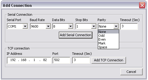 CAS Modbus Scanner - A free tool for communicating with Modbus devices
